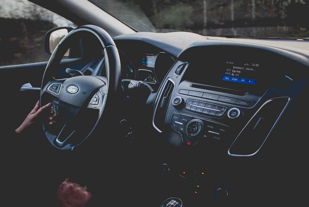 Visão interna carro