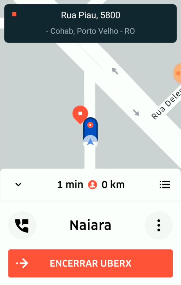 Primeira Viagem Uber - Encerrar a Viagem