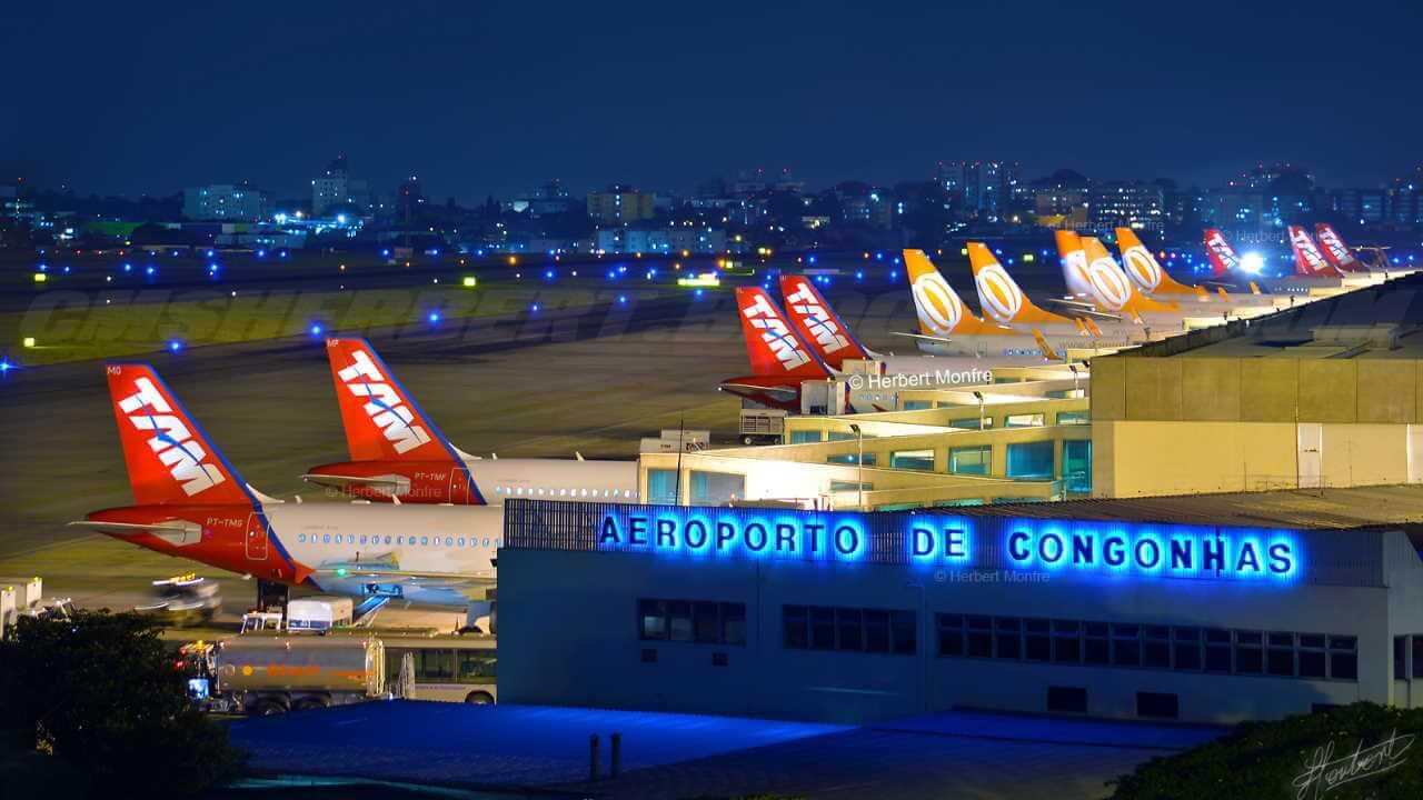 Aeroporto de Congonhas em São Paulo