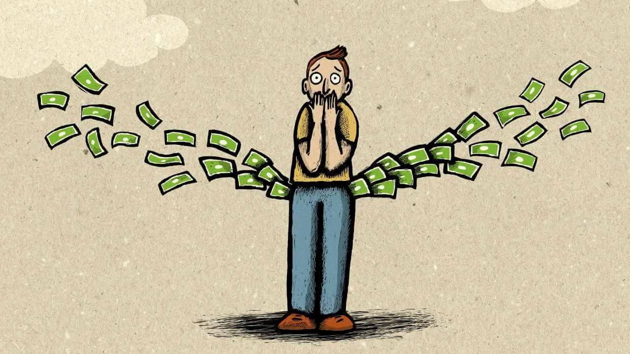 Dinheiro saindo do bolso