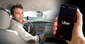Motorista e Passageiro com Celular no Uber