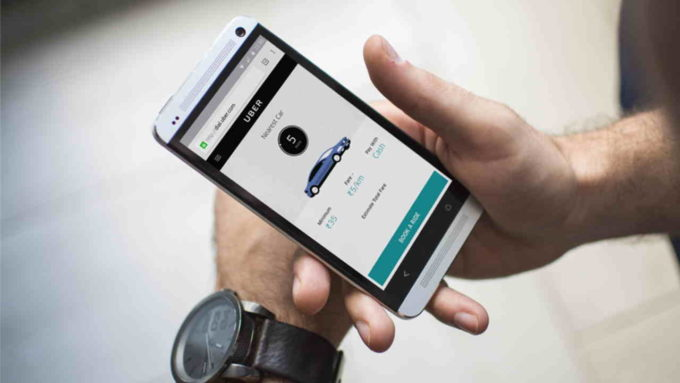 Aplicativo Uber em Celular